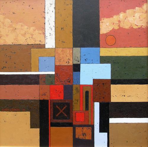 Jonny Lüpkes, Cityscape, Landschaft, Architektur, Gegenwartskunst