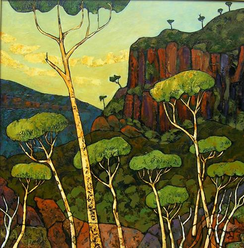 Jonny Lüpkes, Katoomba,Malaita Point., Menschen, Landschaft: Berge, Gegenwartskunst