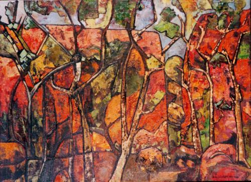 Jonny Lüpkes, Standley Chasm near Alice Spring, Landschaft, Landschaft: Berge, Gegenwartskunst, Expressionismus