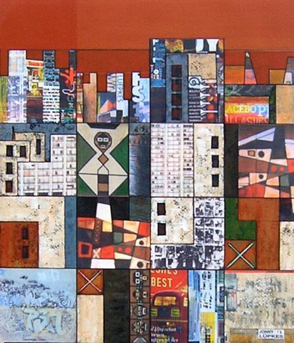 Jonny Lüpkes, O.T., Architektur, Bauten, Gegenwartskunst, Expressionismus
