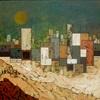 Jonny Lüpkes, Vor dem Sandsturm, Bauten, Abstraktes, Gegenwartskunst