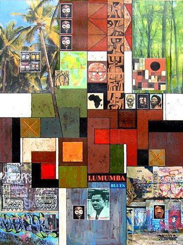 Jonny Lüpkes, Lumumba Blues, Krieg, Geschichte, Gegenwartskunst