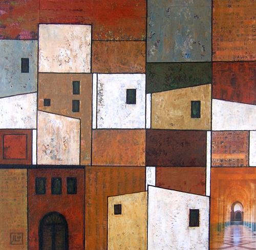 Jonny Lüpkes, Collage, Abstraktes, Architektur, Gegenwartskunst
