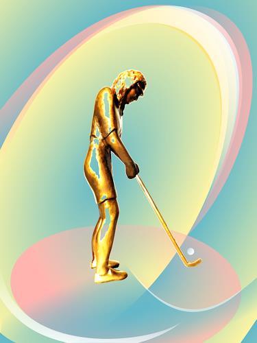 Jutta Römhild, Golferin, Sport, Spiel, Gegenwartskunst, Expressionismus