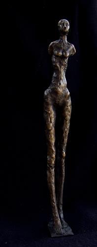 Patrick Feldmann, Frauenfigur 3, Glauben, Geschichte, Transavantgarde, Abstrakter Expressionismus