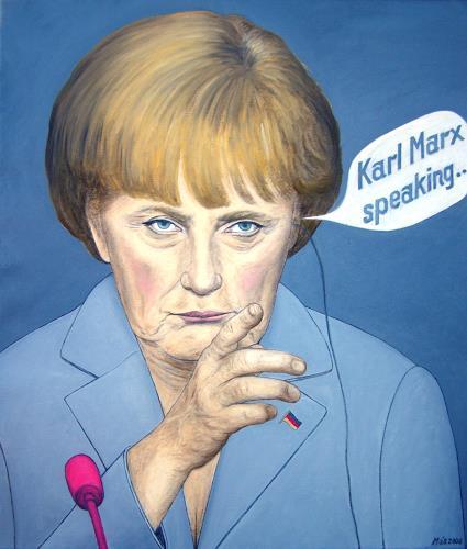 José García y Más, Angela Merkel Asking for Advice / Die Kanzlerin sucht Rat, Markt, Menschen: Porträt, Gegenwartskunst