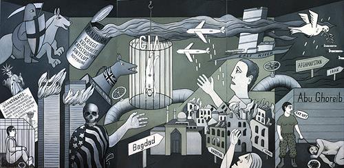 José García y Más, Guernica 2  –  Hommage à Picasso, Geschichte, Krieg, Gegenwartskunst