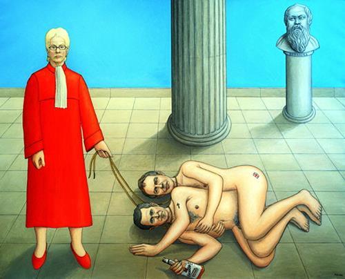 José García y Más, Carla del Ponte, Geschichte, Menschen: Gruppe, Gegenwartskunst, Abstrakter Expressionismus