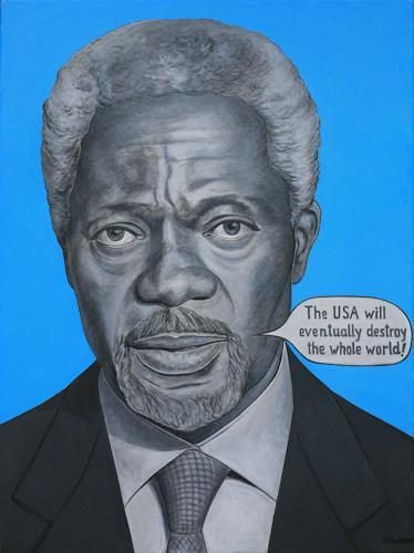 José García y Más, Kofi Annan, Geschichte, Menschen: Porträt, Gegenwartskunst