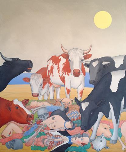 José García y Más, Mad Cow Disease 2 / Rinderwahn 2, Markt, Tiere: Land, Gegenwartskunst, Abstrakter Expressionismus