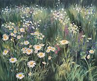 Rebecca-Henkel-Landschaft-Sommer-Pflanzen-Blumen-Neuzeit-Realismus