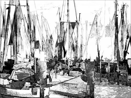 j.p.yef, sailboats, Freizeit, Neo-Impressionismus, Expressionismus