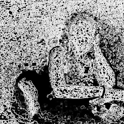j.p.yef, woman in black, Menschen: Frau, Abstrakte Kunst, Abstrakter Expressionismus