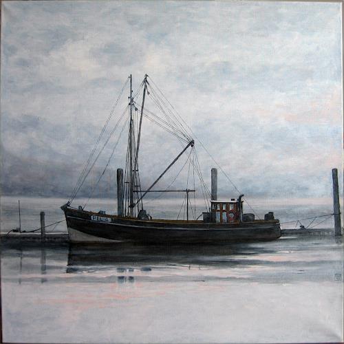 Uwe Thill, Stille, Landschaft: See/Meer, Zeiten: Winter, Realismus, Expressionismus