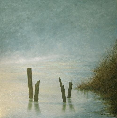 Uwe Thill, Seenebel, Landschaft: See/Meer, Abstrakte Kunst