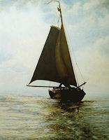 Uwe-Thill-Verkehr-Schiff-Zeiten-Herbst-Moderne-Abstrakte-Kunst