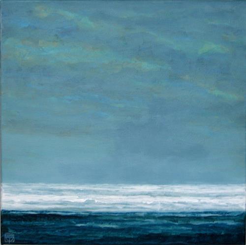 Uwe Thill, Verklingendes Nordlicht, Landschaft: See/Meer, Natur: Wasser, Abstrakte Kunst