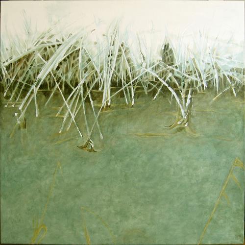 Uwe Thill, Fething, Landschaft: Winter, Diverse Pflanzen, Gegenwartskunst, Abstrakter Expressionismus