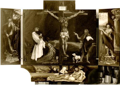 Uwe Thill, Grunewaldaltar zu Colmar, Religion, Geschichte, Realismus, Abstrakter Expressionismus