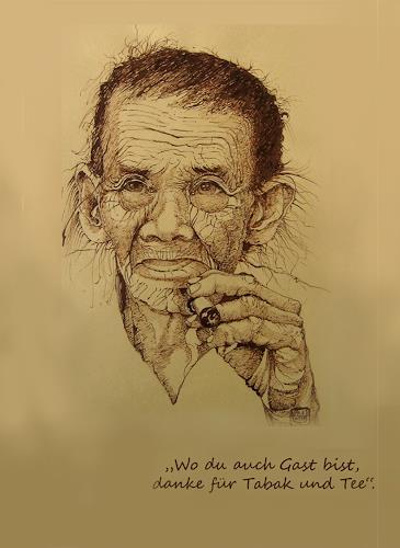 Uwe Thill, Wo du auch Gast bist, danke für Tabak und Tee, Menschen, Gegenwartskunst, Abstrakter Expressionismus