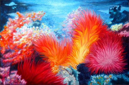 Uwe Thill, Meereszauber, Tiere: Wasser, Natur: Wasser, Gegenwartskunst