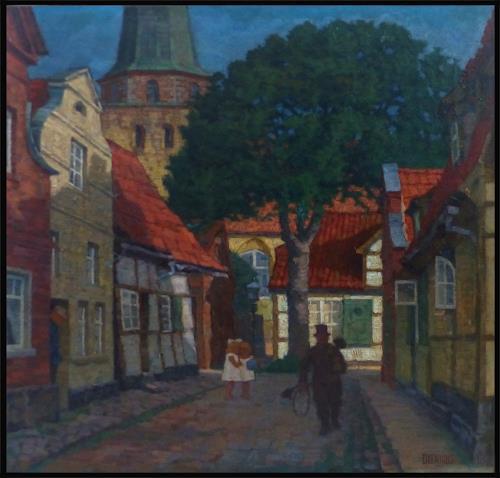 Uwe Thill, Travemünde 1870, Wohnen, Landschaft, Realismus, Expressionismus