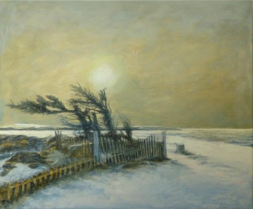 Uwe Thill, O/T, Landschaft, Landschaft: Winter, Gegenwartskunst, Expressionismus