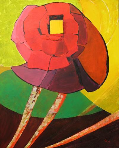KronArt - Leopoldina Kronberger, Ohne Titel, Pflanzen: Blumen, Abstraktes, Moderne, Expressionismus
