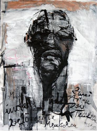 Ingrid Bartel-Karsten, o. Titel, Menschen: Gesichter, Gesellschaft, Abstrakter Expressionismus