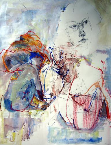 Ingrid Bartel-Karsten, Buckeln, Gesellschaft, Menschen: Gruppe, Gegenwartskunst, Abstrakter Expressionismus