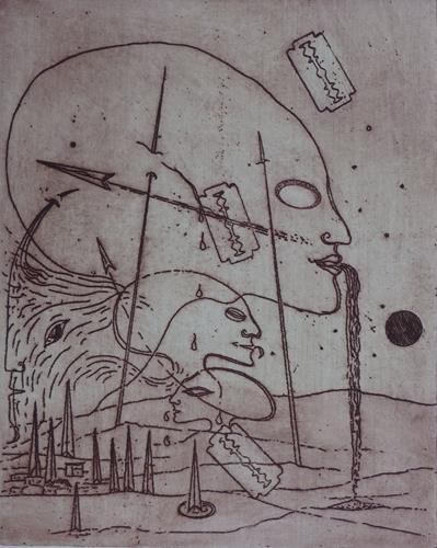 Reinhard Koschubs, Es werde Krieg, Fantasie, Symbolismus, Abstrakter Expressionismus