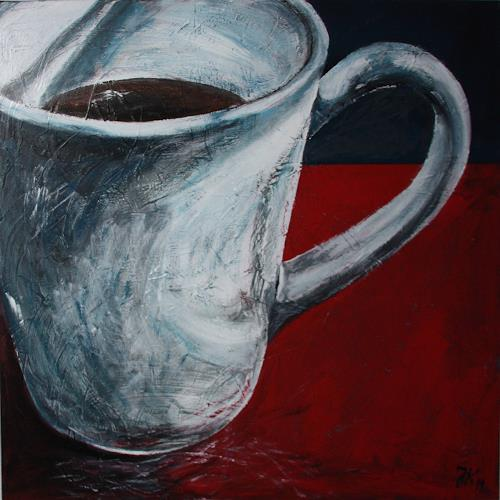 Jürgen Kühne, kaffeepott2, Stilleben, Gegenwartskunst, Abstrakter Expressionismus