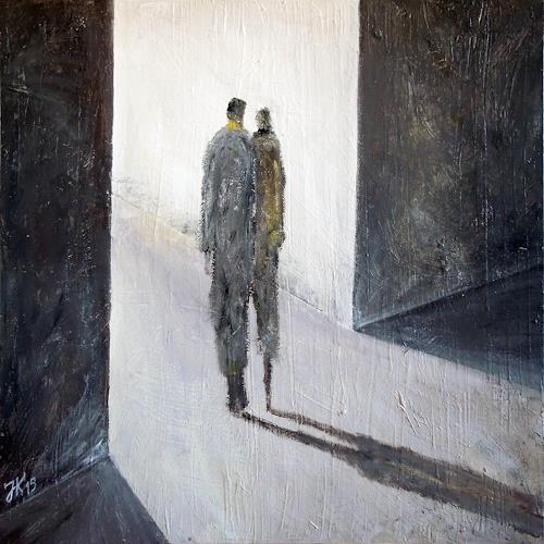 Jürgen Kühne, ins licht 3, Menschen: Paare, Gegenwartskunst, Abstrakter Expressionismus