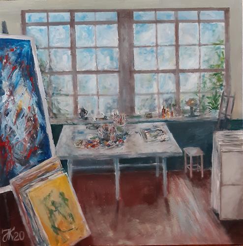 Jürgen Kühne, Atelier, Stilleben, Gegenwartskunst, Expressionismus