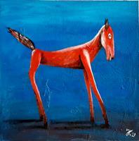 J. Kühne, Rotes Pferd
