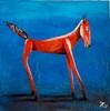 Jürgen Kühne, Rotes Pferd, Tiere, Gegenwartskunst
