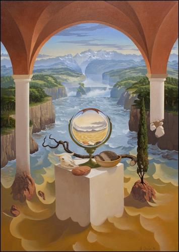 Stefan Ambs, Die Wandlung 4, Diverse Landschaften, Realismus
