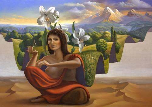 Stefan Ambs, Das Land der Königin, Landschaft: Berge, Fantasie, Postsurrealismus, Abstrakter Expressionismus