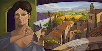 Stefan-Ambs-Landschaft-Sommer-Menschen-Frau-Gegenwartskunst-Postsurrealismus