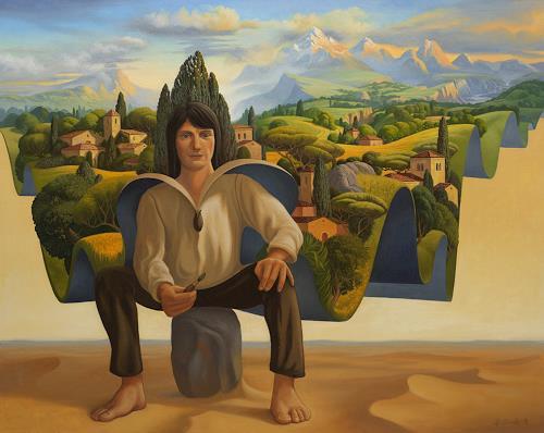 Stefan Ambs, Das Land des Königs, Version 2, Landschaft: Berge, Postsurrealismus