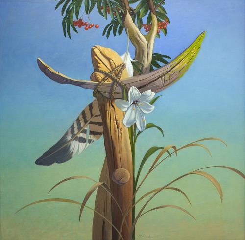 Stefan Ambs, Vogelzeichen, Natur: Luft, Pflanzen: Früchte, Symbolismus