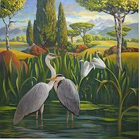 Stefan-Ambs-Landschaft-Berge-Tiere-Wasser-Neuzeit-Realismus