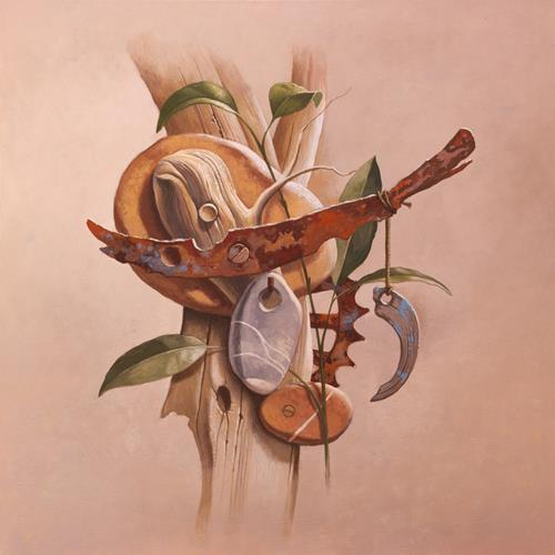 Stefan Ambs, Maschine 4, Diverse Pflanzen, Natur: Gestein, Realismus