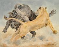 (Uli)-Hans-Ulrich-Aschenborn-Diverse-Tiere-Bewegung-Moderne-Naturalismus