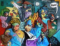 Andreas-Torneberg-Party-Feier-Menschen-Gruppe-Moderne-Pop-Art