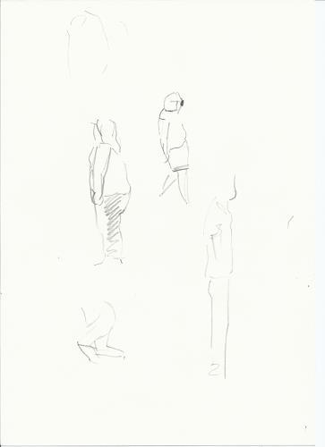 Monika Aladics, Flüchtig (Volatile), Menschen: Gruppe, Gegenwartskunst