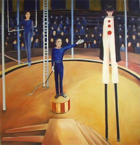 Diana Mandel, Zirkus, Menschen: Gruppe, Gegenwartskunst