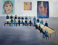 Diana-Mandel-Menschen-Gruppe-Gegenwartskunst-Gegenwartskunst