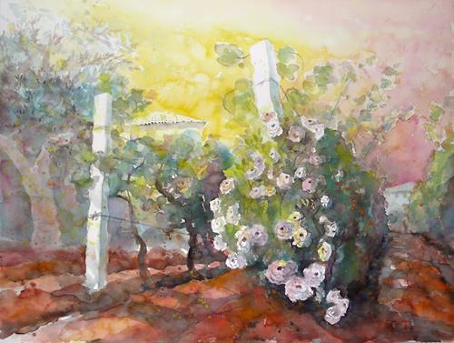 Ulrich Hartig, Rose nella vigna, Pflanzen: Blumen, Wohnen: Garten, Abstrakte Kunst