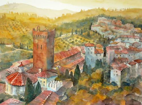 Ulrich Hartig, San Miniato, Toskana, Architektur, Wohnen: Dorf, Expressionismus